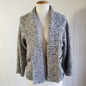 Ann Taylor Loft Open Front Chunky Knit Sweater